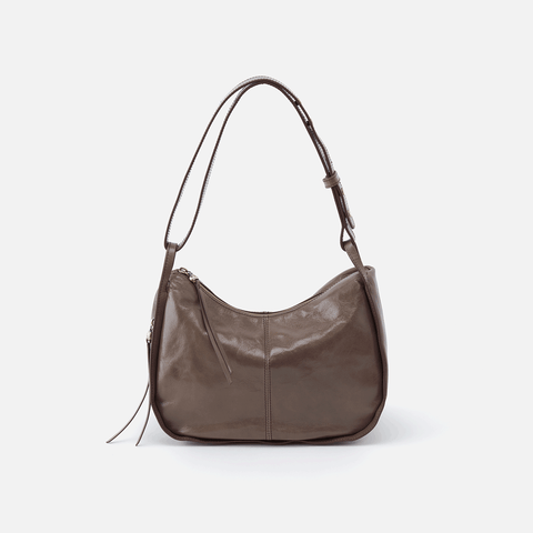 Arlet Grey Leather Shoulder Bag