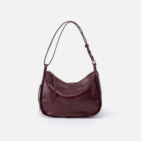 Arlet Purple Leather Shoulder Bag