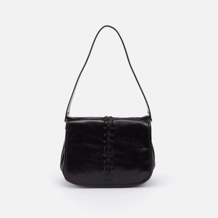 Arlo Black Leather Shoulder Bag