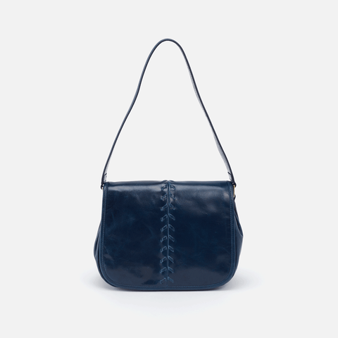 Arlo Blue Leather Shoulder Bag
