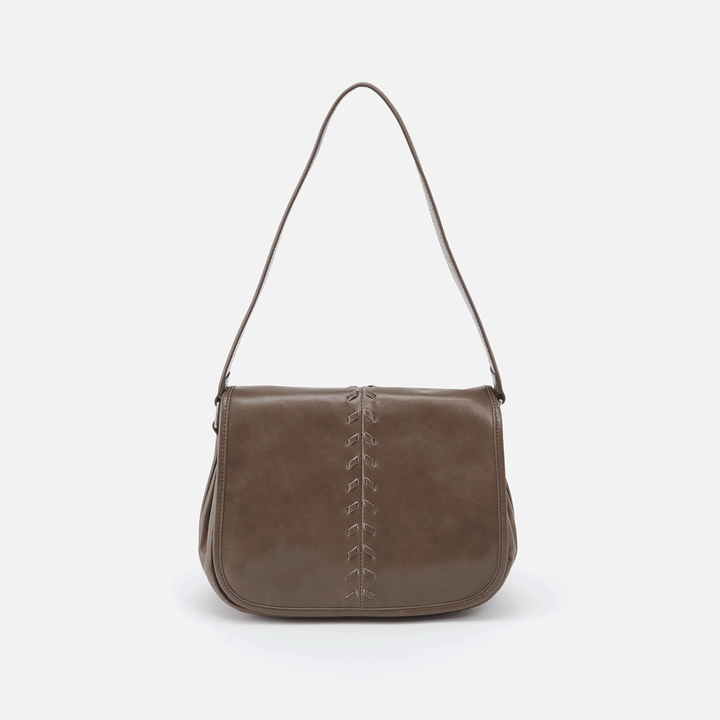 Arlo Grey Leather Shoulder Bag
