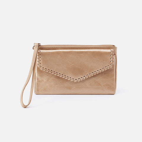 Aspen Gold Leather Wristlet
