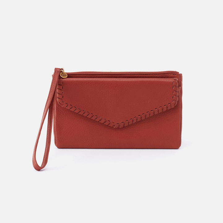 Aspen Sienna Red Leather Wristlet