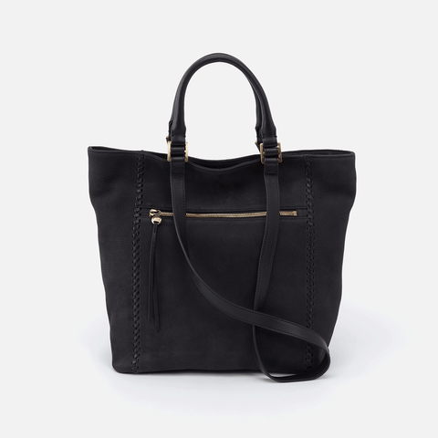 Ballad Black Leather Tote Bag