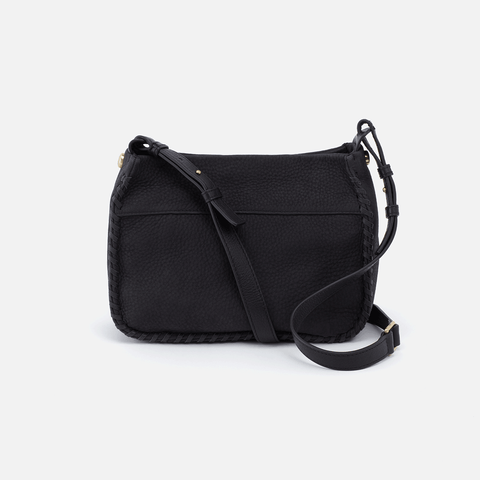 Banjo Black Leather Crossbody Bag