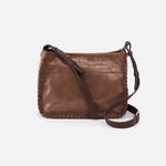 Banjo Metallic Brown Leather Crossbody Bag