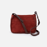 Banjo Red Suede Leather Crossbody Bag
