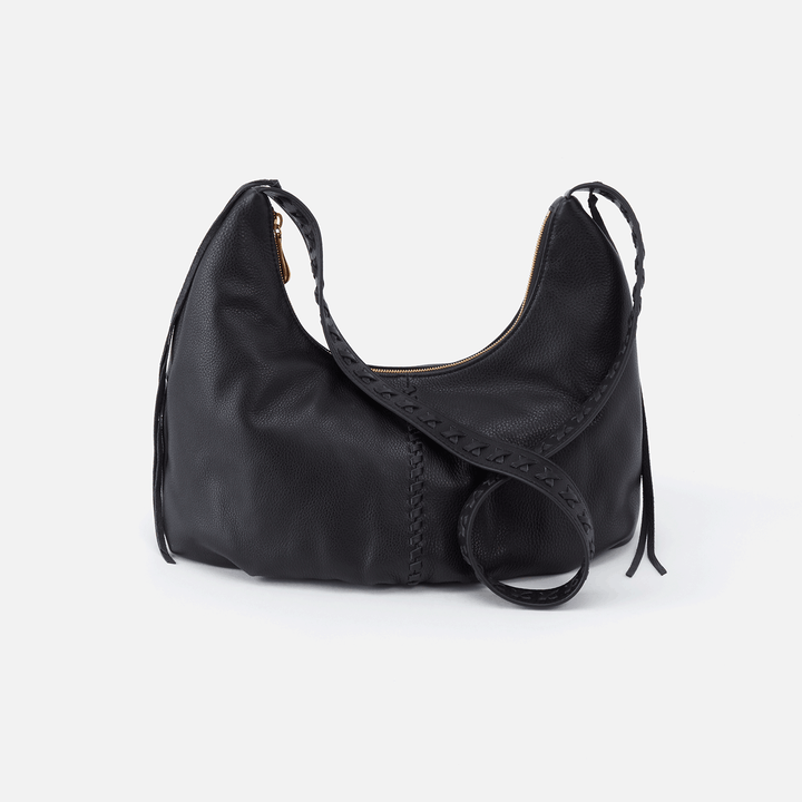 Basin Black Leather Shoulder Bag