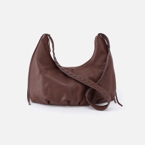 Basin Brown Leather Shoulder Bag