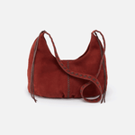 Basin Red Suede Leather Shoulder Bag