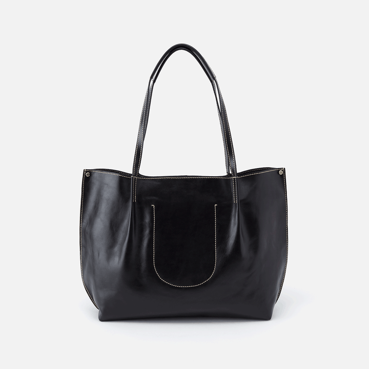 Basis Black Leather Tote