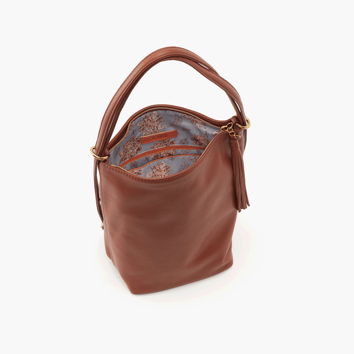 Blaze Brown Leather Backpack Bucket Bag