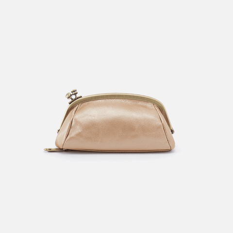 Bliss Gold Leather Pouch
