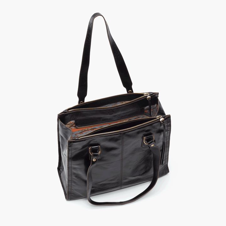 Bond Black Leather Tote Bag