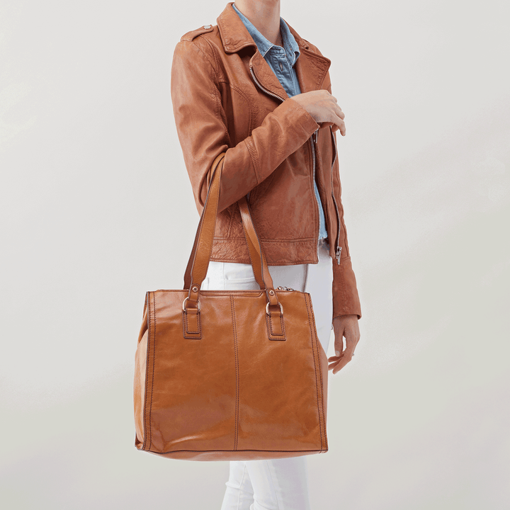 Bond Cognac Brown Leather Tote Bag