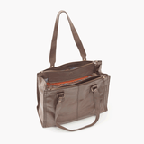 Bond Grey Taupe Leather Tote Bag