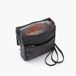 Bridge Black Leather Backpack