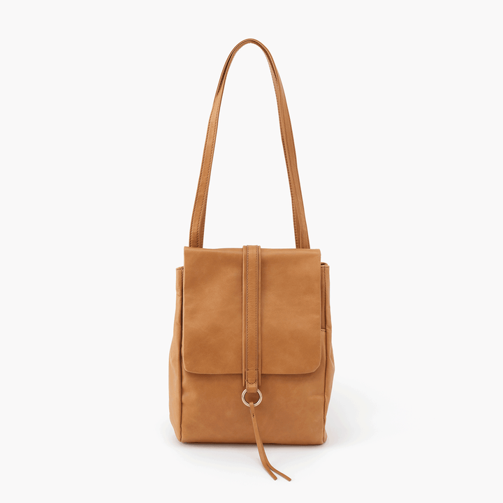 Bridge Cognac Brown Leather Backpack