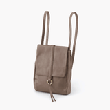 Bridge Grey Taupe Leather Backpack