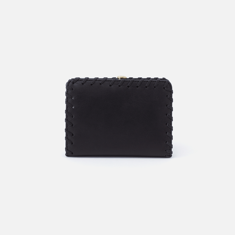 Brin Black Leather Wallet