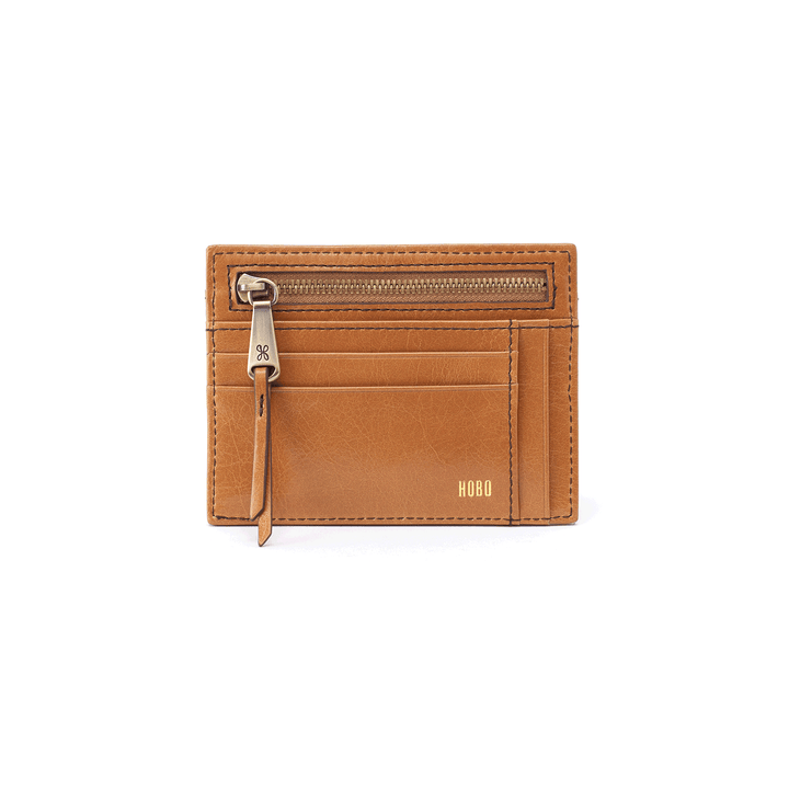 Brink Honey Leather Credit Card Wallet