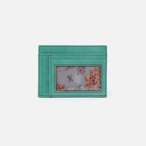 Brink Seafoam Leather Credit Card Wallet