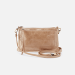 Cadence Gold Leather Convertible Crossbody