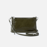 Cadence Green Leather Convertible Crossbody