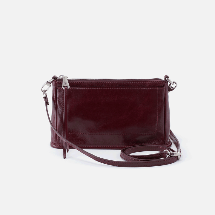 Cadence Purple Leather Convertible Crossbody