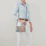 Cadence Summertime Abstract Leather Crossbody