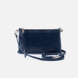 Cadence Blue Leather Small Crossbody