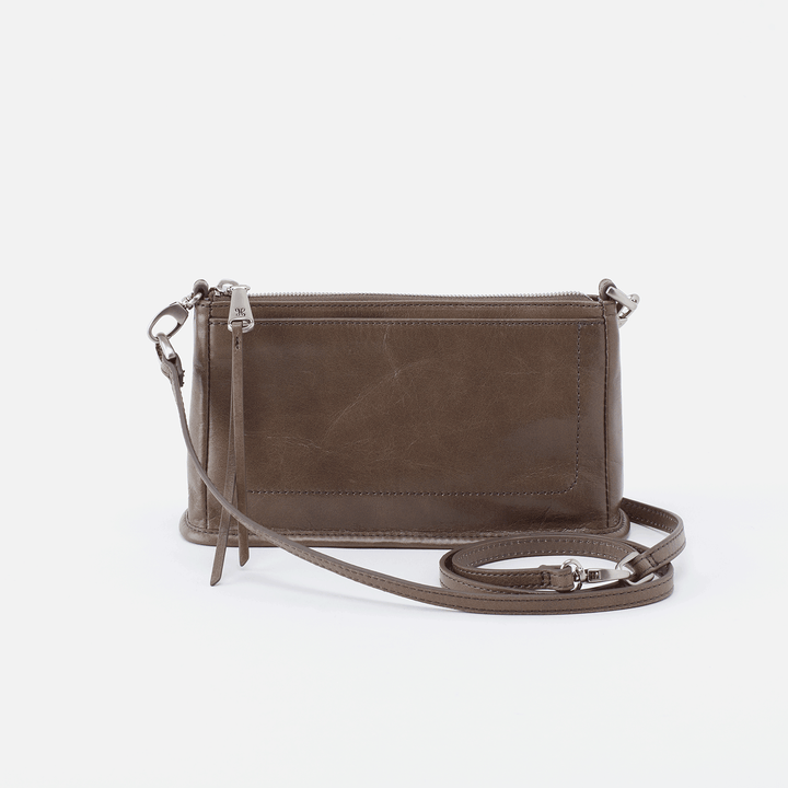 Cadence Grey Leather Small Crossbody