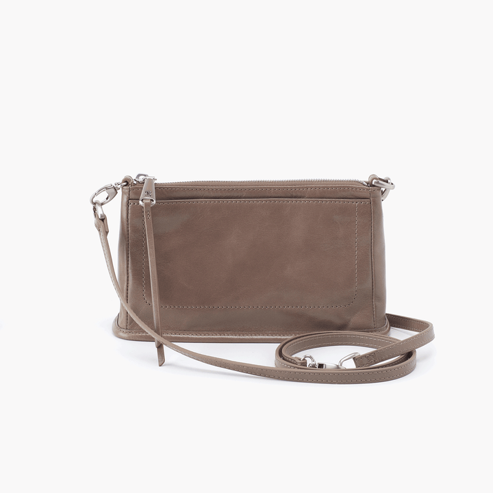 Cadence Grey Taupe Leather Small Crossbody