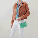 Cadence Light Green Leather Small Crossbody