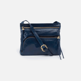 Cassie Blue Leather Small Crossbody