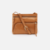 Cassie Cognac Brown Leather Small Crossbody