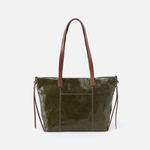 Cecily Green Leather Mini Tote