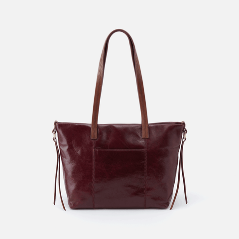 Cecily Purple Leather Mini Tote