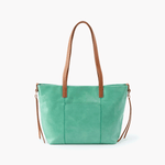 Cecily Light Green Leather Satchel