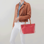 Cecily Pink Leather Satchel