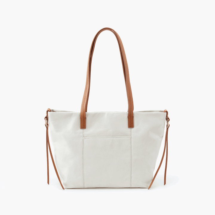 Cecily White Leather Satchel