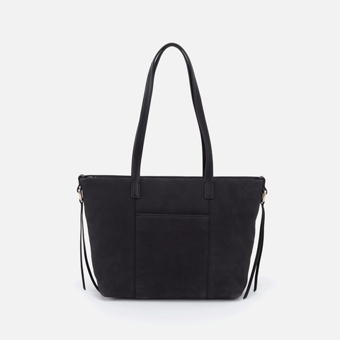 Cecily Black Leather Satchel