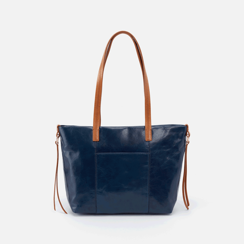 Cecily Blue Leather Satchel