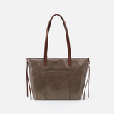 Cecily Grey Leather Satchel