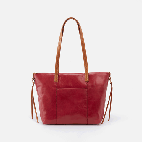 Cecily Red Leather Satchel