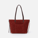 Cecily Red Suede Leather Satchel