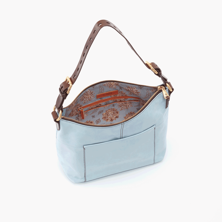 Charlie Blue Leather Shoulder Bag