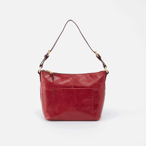 Charlie Red Leather Shoulder Bag