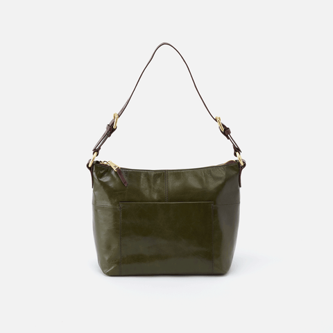 Charlie Green Leather Shoulder Bag