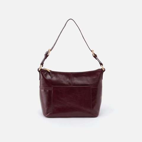 Charlie Purple Leather Shoulder Bag
